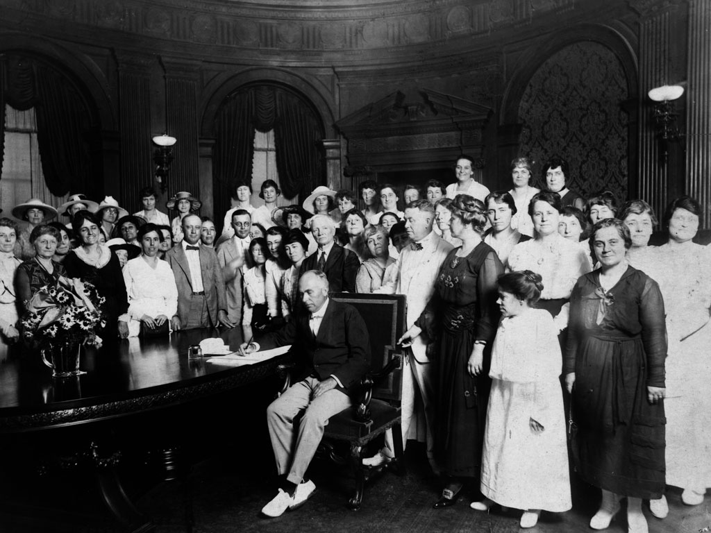 The Nineteenth Amendment to the Constitution Signed Into Law