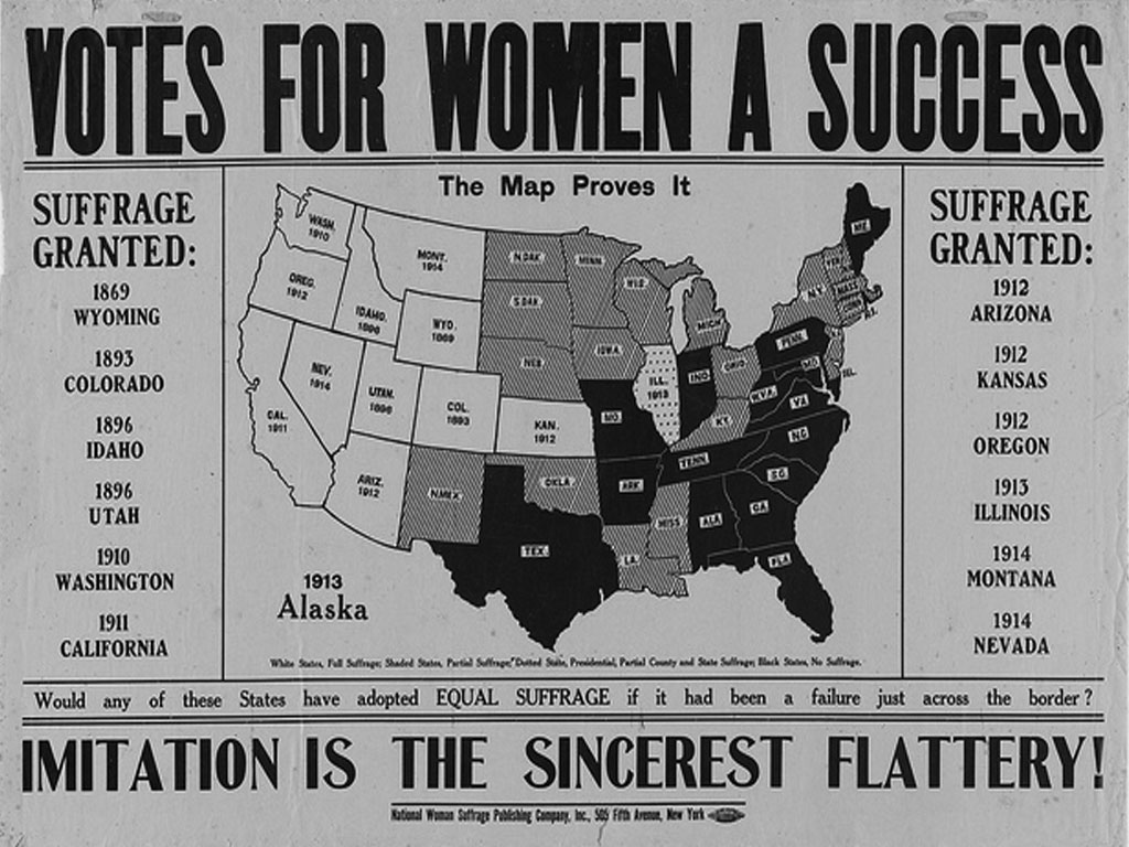 Eight States Grant Women the Right to Vote